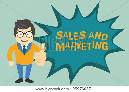 Text Sign Showing Sales And Marketing. Conceptual Photo Promotion Selling Distribution Of Goods Or S