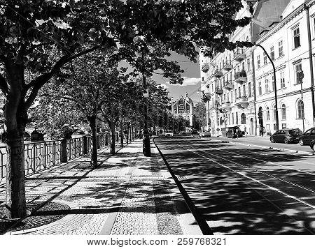 Cityscape: Urban View Of The Riverside Of The Vltava River In Nové Město (new Town), Prague, Czech