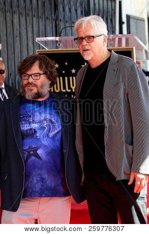 LOS ANGELES - SEP 18:  Jack Black, Tim Robbins at the Jack Black Star Ceremony on the Hollywood Walk of Fame on September 18, 2018 in Los Angeles, CA