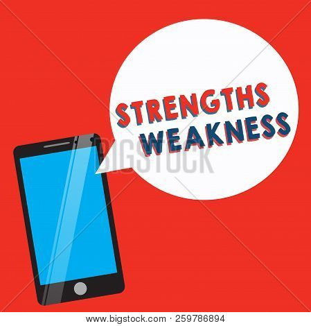 Conceptual Hand Writing Showing Strengths Weakness. Business Photo Showcasing Opportunity And Threat