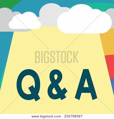 Text Sign Showing Q And A. Conceptual Photo Person Or Group People Asks Questions And Another Ones A