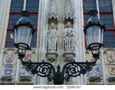 Lamppost Statues In Brugge