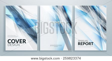 Business Brochure Cover Design Templates. Business Flyer Or Poster With Abstract Background