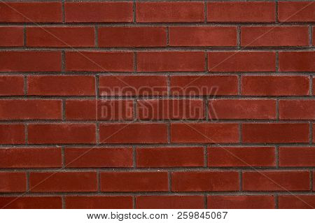 Red Brick Wall - Industrial Pattern Background.