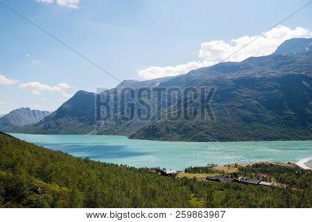 Besseggen Ridge Over Gjende Lake In Jotunheimen National Park, Kingdom Of Norway
