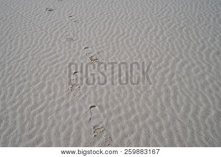 Gypsum Sand Forms Ripples At White Sands National Monument In New Mexico. Useful For Textures And Ba