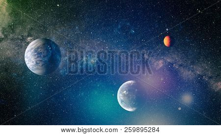 The Explosion Supernova. Bright Star Nebula. Distant Galaxy. Abstract Image. Elements Of This Image