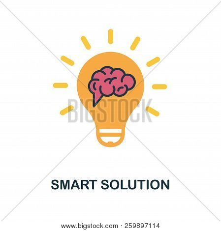 Smart Solution Flat Icon. Monochrome Style Design From Online Education Icon Collection. Ui And Ux.