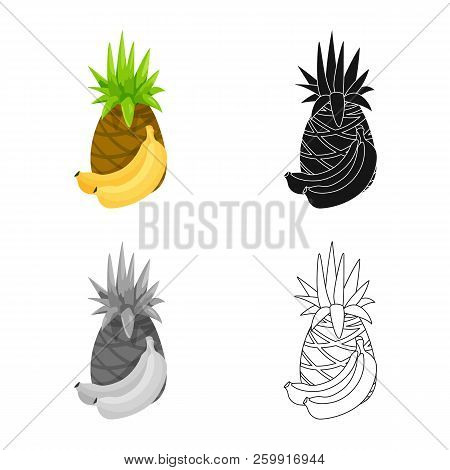 Vector Design Of Food And Drink Icon. Collection Of Food And Store Stock Symbol For Web.