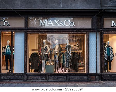 Belgrade, Serbia - September 24, 2018: Max&co Logo On Their Main Store For Belgrade. Max & Co Is A F