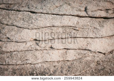 Texture Of Beige Stone, Stratification And Strips, Vintage