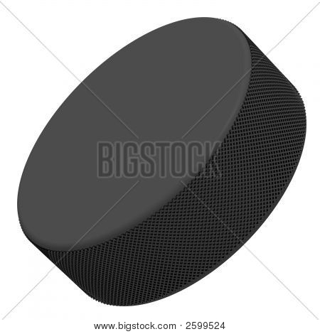 Perfect hockey puck isolated on a white background poster
