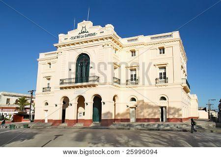 Theater Caridad in Vidal park built in 1885, Santa Clara,   Cuba
