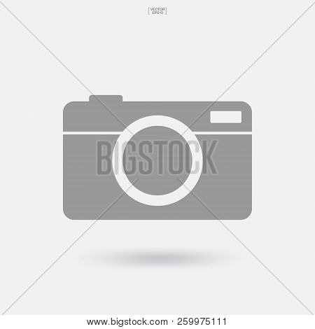 Camera Sign And Symbol. Photo Icon Or Image Icon With Soft Shadow. Vector Illustration.