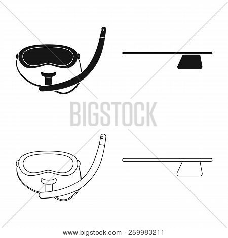 Vector Design Of Pool And Swimming Icon. Collection Of Pool And Activity Stock Vector Illustration.
