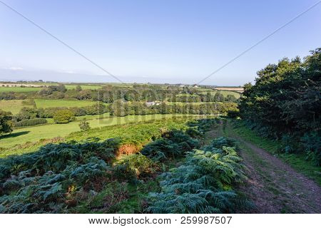 View of the North Gower, Wales, countryside from a rambler's path.