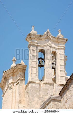 Detail of the baroque Purgatory Church (Chiesa del Purgatorio) in Polignano a Mare Apulia Italy poster
