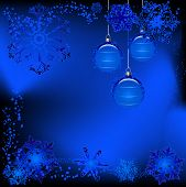 creative design for winter illustrations snowflakes and balls poster