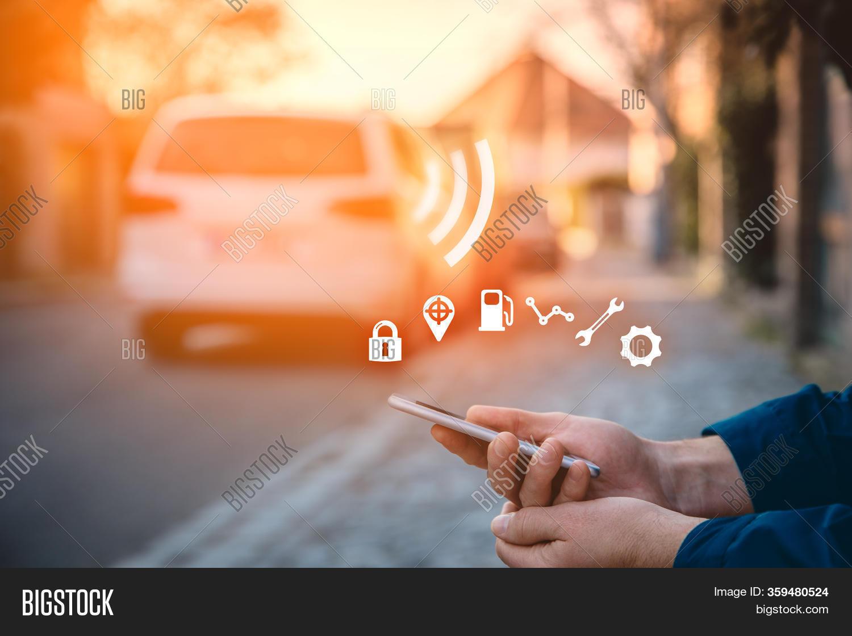 Intelligent Car App On Image Photo Free Trial Bigstock