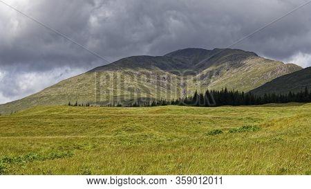 Coire Na Muic & Stob Ghabhar (1090m) Viewed From West Highland Way Near Forest Lodge, Loch Tulla, Ar