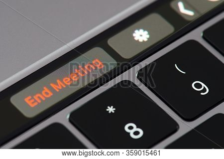 End Meeting Button On Touchpad