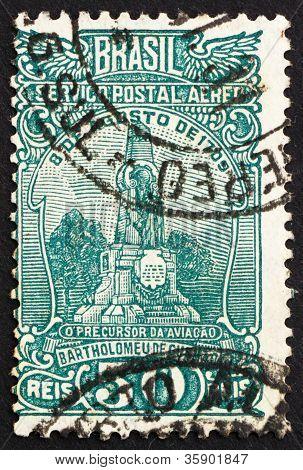 Postage stamp Brazil 1929 Monument to de Gusmao, Santos