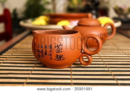 tea tools with Chinese characters