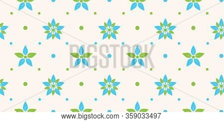 Seamless Floral Pattern Background, Vector Flower Ornament, Hand Drawn Decorative Element, Seamless