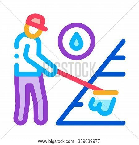 Technical Renewal Of Battery Icon Vector. Technical Renewal Of Battery Sign. Color Contour Symbol Il