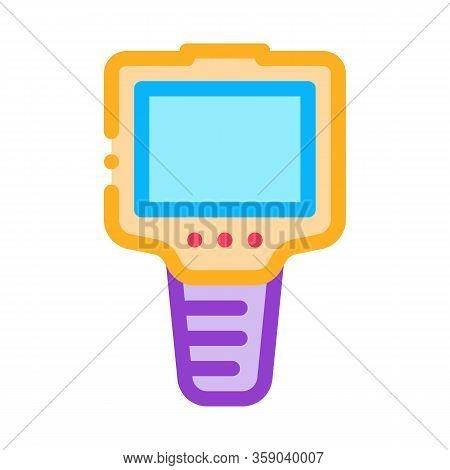 Ammeter Icon Vector. Ammeter Sign. Color Contour Symbol Illustration