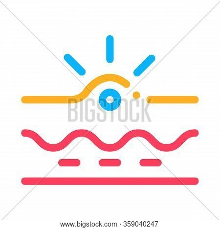 Appearance Of Acne Icon Vector. Appearance Of Acne Sign. Color Contour Symbol Illustration
