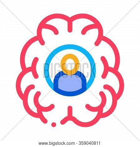 Human Brainstorming Icon Vector. Human Brainstorming Sign. Color Contour Symbol Illustration