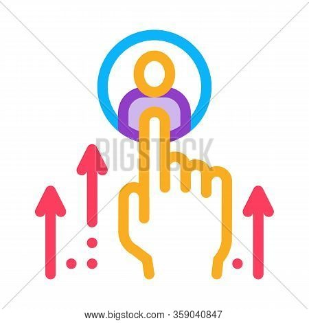 Human Resource Enhancement Icon Vector. Human Resource Enhancement Sign. Color Contour Symbol Illust
