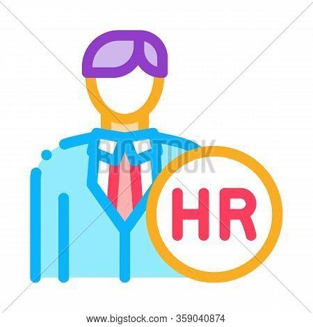 Human Resource Icon Vector. Human Resource Sign. Color Contour Symbol Illustration