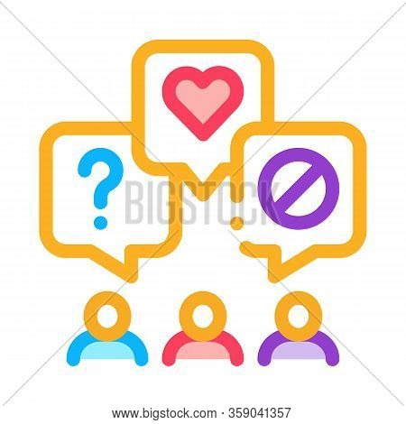Different Demands Of People Icon Vector. Different Demands Of People Sign. Color Contour Symbol Illu