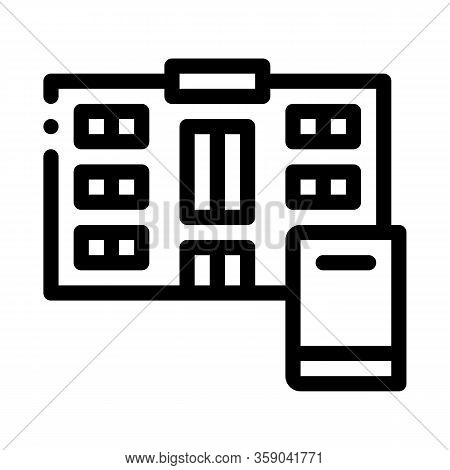 Library Icon Vector. Library Sign. Isolated Contour Symbol Illustration