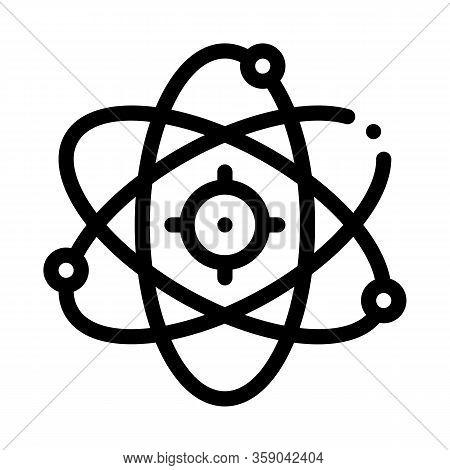 Atom Molecule Icon Vector. Atom Molecule Sign. Isolated Contour Symbol Illustration