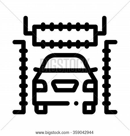 Automatic Car Wash Icon Vector. Automatic Car Wash Sign. Isolated Contour Symbol Illustration