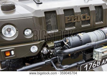 Sambek, Rostov Region, Russia, June 28, 2019: Special Multi-purposes Armored Vehicle Rys, Iveco Lmv.