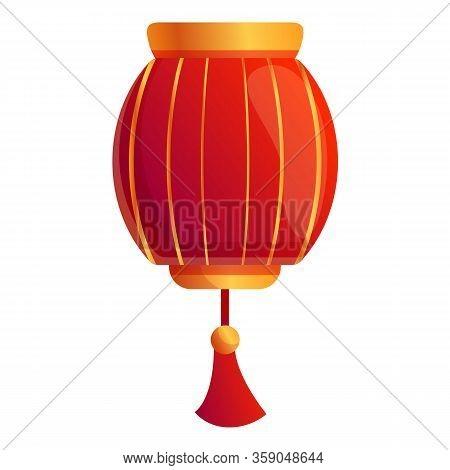 Hanging Chinese Lantern Icon. Cartoon Of Hanging Chinese Lantern Vector Icon For Web Design Isolated