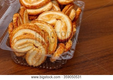 Palmier Biscuits - French Cookies Made Of Puff Pastry (also Called Palm Leaves, Elephant Ears Or Fre