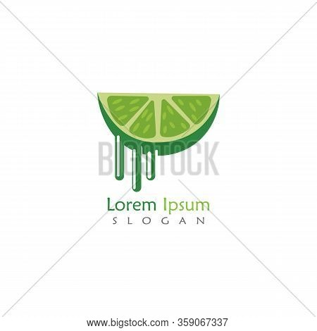 Lime Logo Design, Isolated Lime Creative Template Vector