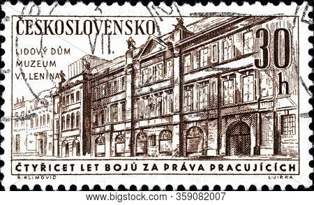 02.09.2020 Divnoe Stavropol Territory Russia The Postage Stamp Czechoslovakia 1961 The 40th Annivers