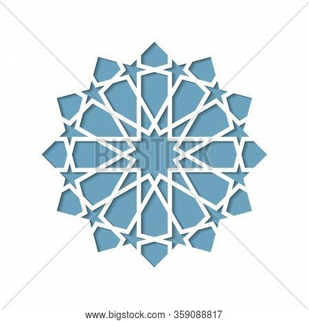 Geometric Islamic Ornament For Decoration Greeting Card Or Interior. Vector Illustration.