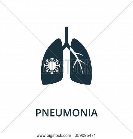 Pneumonia Icon. Simple Illustration From Coronavirus Collection. Creative Pneumonia Icon For Web Des