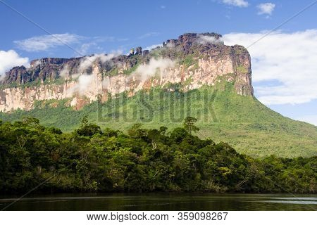 Auyan Tepui - Table Mountain In National Park Canaima, Venezuela