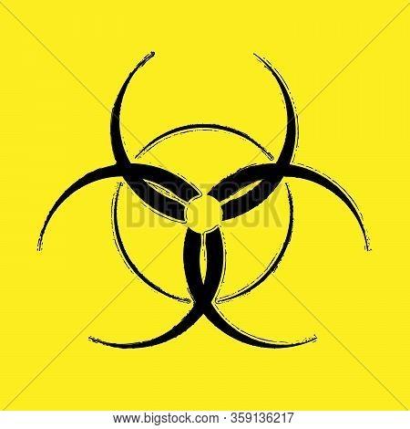 Biohazard Virus Danger Icon. Bio Hazard Grunge Symbol For Your Design. Eps10 Vector.