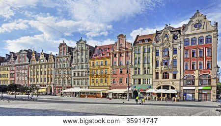 Old Houses On Market Square In Wroclaw