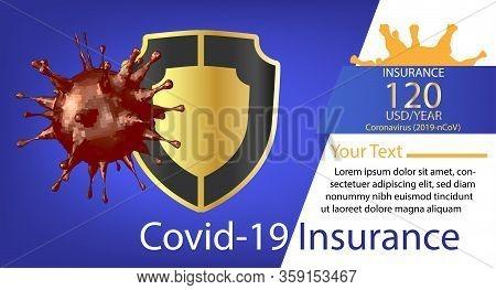 Coronavirus Covid-19 Insurance Pattern Advertising Media Design Insurance Against Illness For A Safe