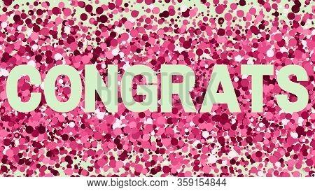 Congratulations Congrats Congratulate Anniversary Text Birthday Colorful